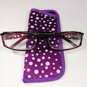 Foster Grant Dazzle Purple Reading Glasses +1.50